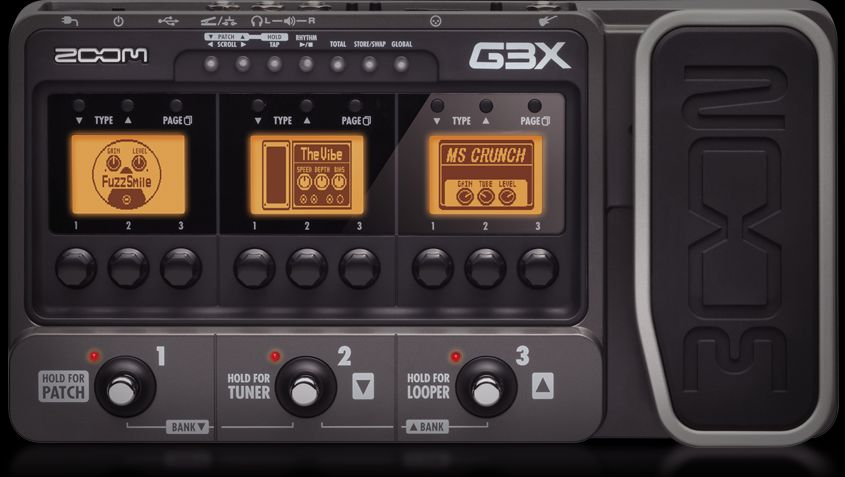 Zoom G3X Guitar Effects & Amp Simulator with Expression Pedal