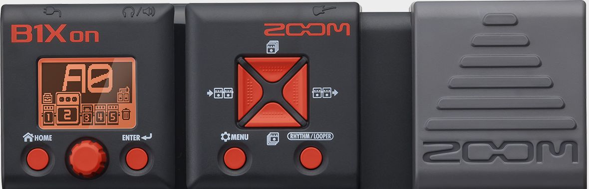 Zoom B1Xon Bass Effects Pedal with Expression Pedal - Top Half
