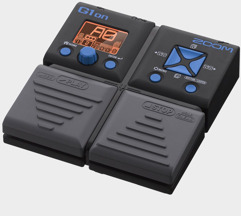 Zoom G1on Guitar Effects Pedal - slant right