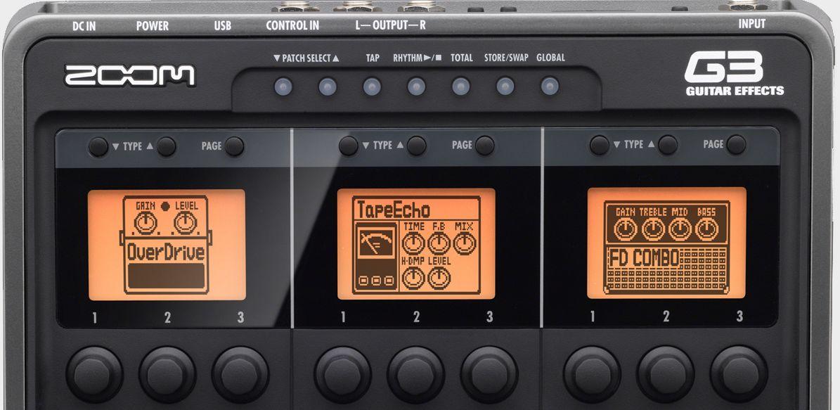 Zoom G3 Guitar Effects & Amp Simulator Pedal - Top Half