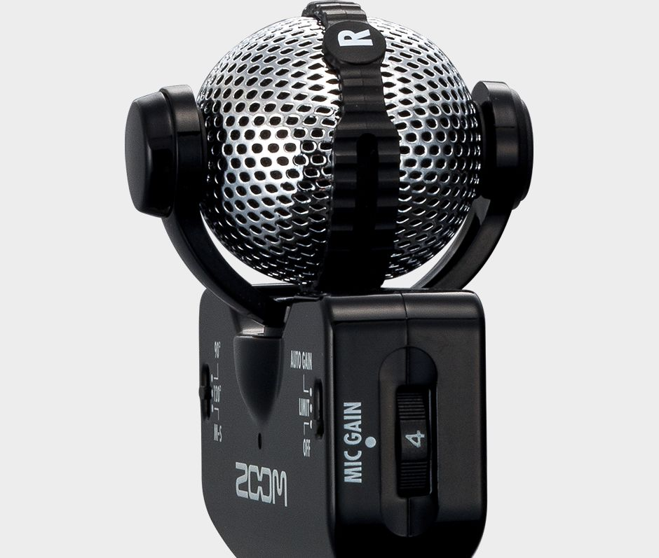 Zoom iQ5 Professional Stereo Microphone for iOS - Top left closeup