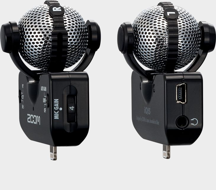 Zoom iQ5 Professional Stereo Microphone for iOS - both sides