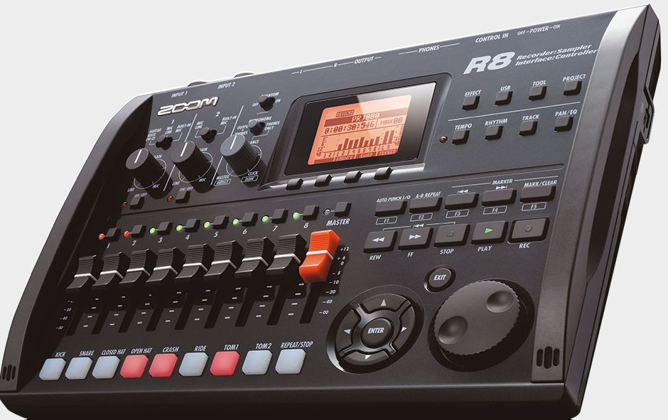 Zoom R8 Recorder : Interface : Controller : Sampler - Right Slant