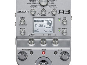 Zoom A3 Pre-Amp & Effects for Acoustic Guitar - Top View