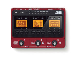 Zoom B3 Bass Effects & Amp Simulator Pedal - Top View