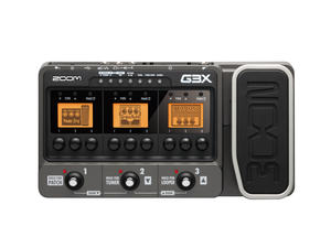 Zoom G3X Guitar Effects & Amp Simulator with Expression Pedal - Top View