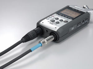 Zoom H4n Handy Recorder: Plugged