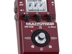 Zoom MS-60B MultiStomp Bass Pedal - Top Slant Left