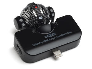 Zoom iQ5 Professional Stereo Microphone for iOS - Overview (Black)