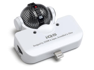 Zoom iQ5 Professional Stereo Microphone for iOS - Overview (White)